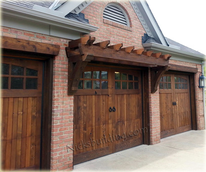 dark brown garage doorsWood Garage Doors  Wooden Overhead Door  Paint Grade Garage Doors